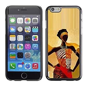 Caucho caso de Shell duro de la cubierta de accesorios de protección BY RAYDREAMMM - Apple iPhone 6 - Gold Goddess Woman Lady