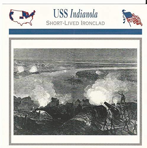1995 Atlas, Civil War Cards, 22.10 USS Indianola, Ironclad Ship, Vicksburg