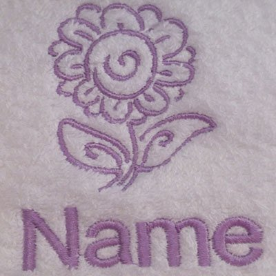Baby Robe 0-9 months EFY White Baby Hooded Bath Robe or White Hooded Towel with a BOXING GLOVE Logo and Name of your choice.