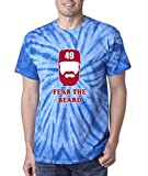 "Silo Shirts TIE DIE Royal Arrieta Chicago ""Fear the Beard"" T-Shirt"