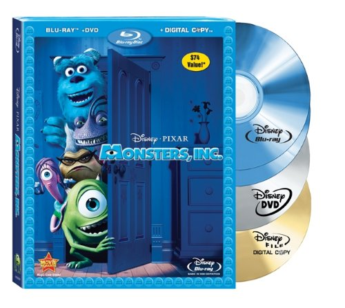 Monsters, Inc. (Four-Disc Blu-ray/DVD Combo + Digital Copy) [Blu-ray]