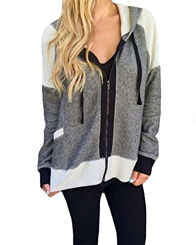 Auxo Women Zip Up Hoodie Lightweight Jacket Sports Jersey Workout Sweatshirt Pullover...