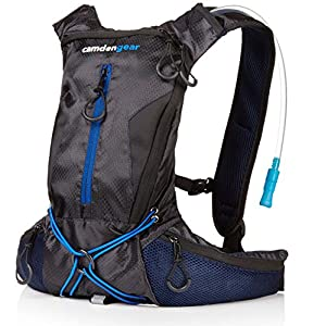 "Hydration Pack with 1.5 L Backpack Water Bladder. Fits Men and Women with Chest Sizes 27"" - 50"". Great for Hiking - Running - Biking - Kids"