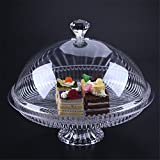 Cake Stand Multifunctional Serving Platter and Cake Plate with Dome (30cm)