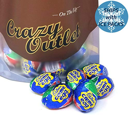 Cadbury Chocolate Filled Creme Eggs Bulk Candy, 1.2-Ounce Egg (Pack of 42)