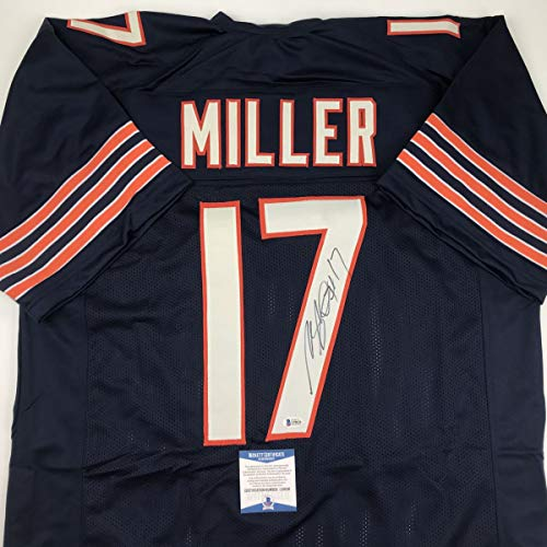 Autographed/Signed Anthony Miller Chicago Blue Football Jersey Beckett BAS COA ()