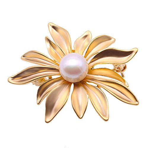 JYX Flower Brooch Pin White Freshwater Pearl Bouquet Bridal Wedding Jewelry …
