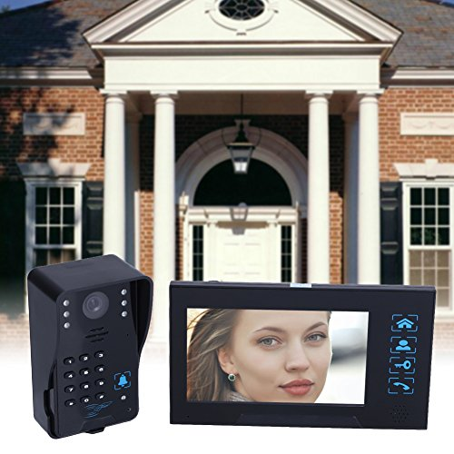 (Xligo Villa-Type Video Doorbell 7inch LCD Wired Video Door Phone System Visual Intercom Doorbell Calendar Model Comes With Memory Card)