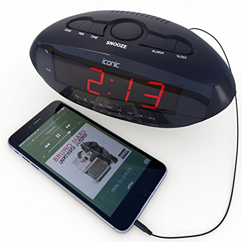 best alarm clock radio with usb charger for smartphones import it all. Black Bedroom Furniture Sets. Home Design Ideas