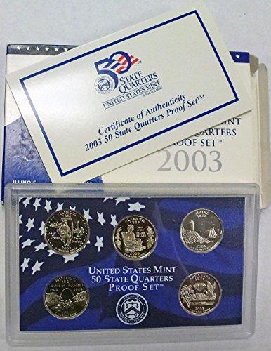 2003 S Statehood Quarters Proof Set Original Mint ()