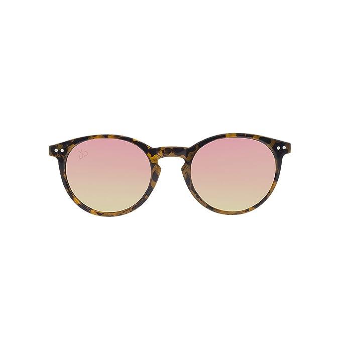 HOOK Gafas de Sol Unisex Montura Carey Marrón y Caramelo ...