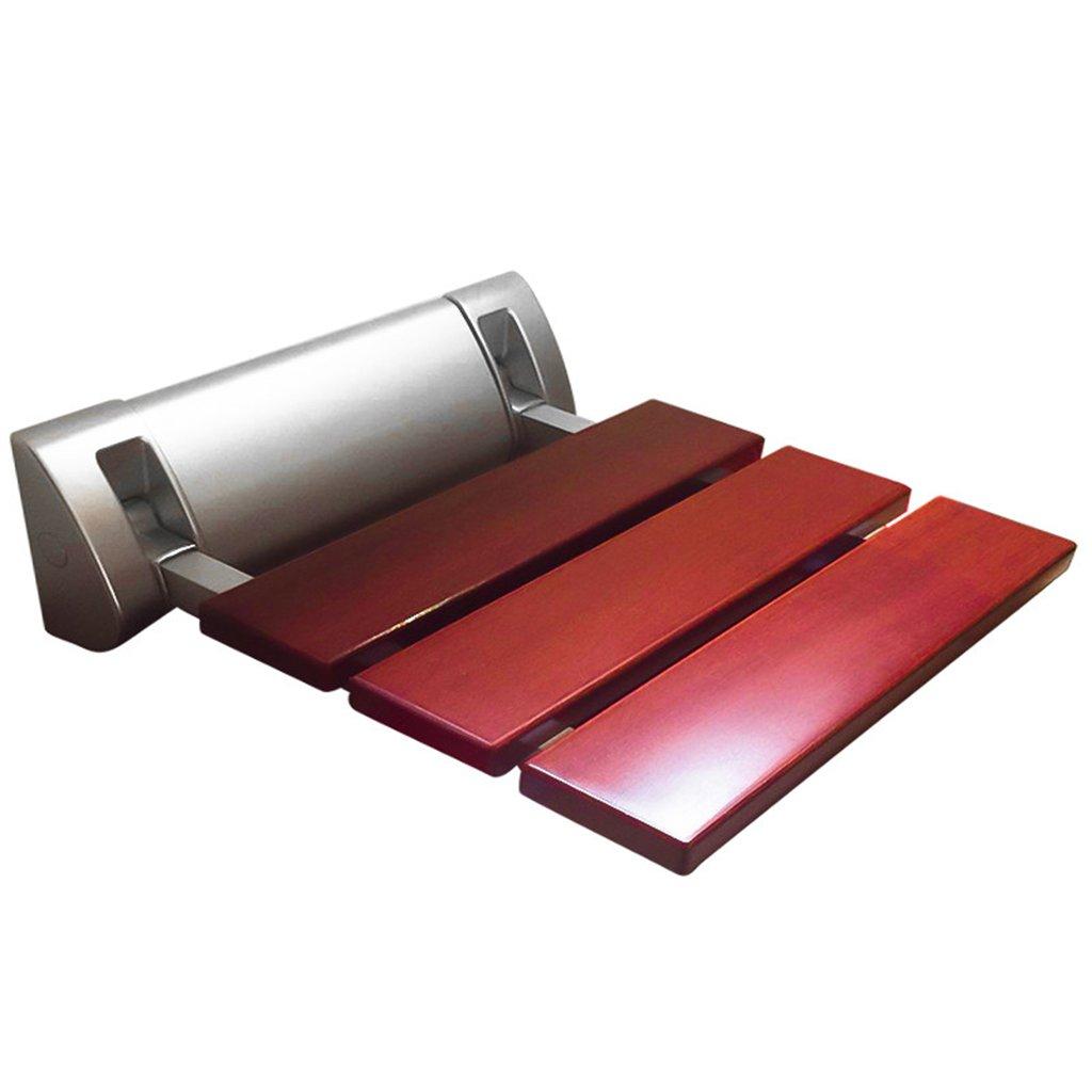 軽量折りたたみシャワーシートスツールウォールチェアバスルームシャワールームシャワーチェアフォールディングチェアエントランススツールスツールチェンジシューズ (色 : 赤) B07DFKTKV4  赤