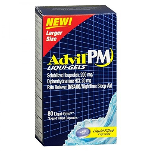 Advil PM Ibuprofen 200 mg Liqui-Gels 80 ea (Pack of 2) by Advil