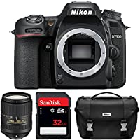 Nikon D7500 Wi-Fi 4K Digital SLR Camera 18-300mm VR DX Lens, Case & 32GB Card + Flash + Battery & Charger + Tripod + 3 Filters + Strap Kit by Nikon