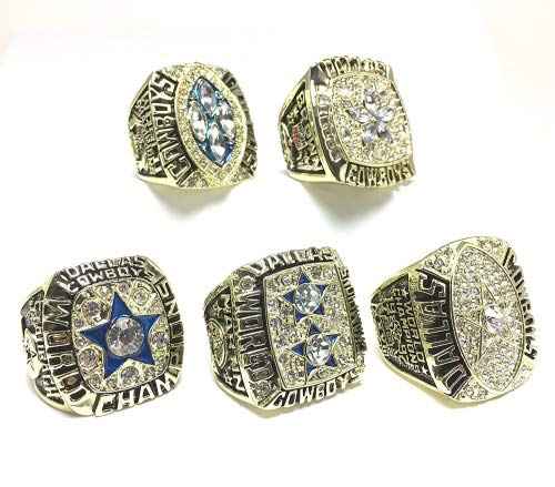 Custom Rings Dallas Cowboys Super Bowl 5 Ring Set 1971 for sale  Delivered anywhere in USA