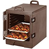 Dark Brown TableTop king Camcarrier 1318MTC131 Insulated Tray / Sheet Pan Carrier - Front Load Holds Half Size Pans