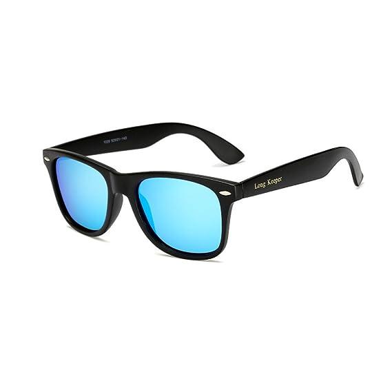 Long Keeper Gafas de sol Polarizadas Gafas de sol Cuadradas Vendimia Clásico para Mujeres Hombres