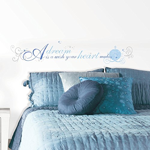 """RoomMates RMK2438SCS Cinderella """"A Dream Is A Wish"""" Peel and Stick Wall Decals"""