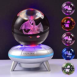 3D Crystal Ball LED Night Light Base Changes Color Toy...