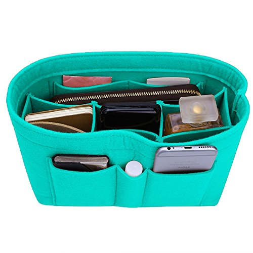 (Felt Insert Bag Organizer Bag In Bag For Handbag Purse Organizer, Six Color Three Size Medium Large X-Large (Large, Tiffany Blue))