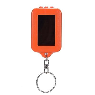 Ocamo Mini LED Flashlight énergie solaire Powered LED torche/porte-clés lumière de la lampe