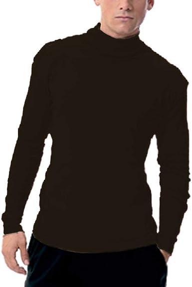 Mercaroupa - Camiseta Chico Cuello Cisne Fabio Hombre Color: Marron Talla: 52: Amazon.es: Ropa y accesorios