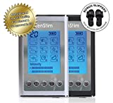 #6: TenStim TENS and EMS Combo Unit with Reflexology Slippers - FDA 510K Cleared | Dual Channels | 9 Modes: Electronic Pulse Massager, Electrode Muscle Stimulator Machine for Pain Relief (Black or Silver)