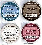Bath and Body Works 4 Pack Men's Favorite Scentportable Fragrance Refill. 0.2 Oz. Mahogany Teakwood, Ocean, Sandalwood Suede & Bourbon.