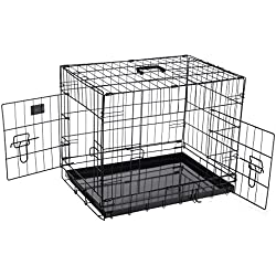 Pet Trex 2300 PT2300 24 Inch Pet Crate Folding Pet Crate Kennel for Dogs, Cats or Rabbits, 24""