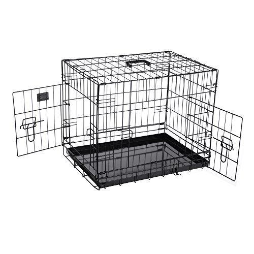 - Pet Trex 2300 PT2300 24 Inch Pet Crate Folding Pet Crate Kennel for Dogs, Cats or Rabbits, 24