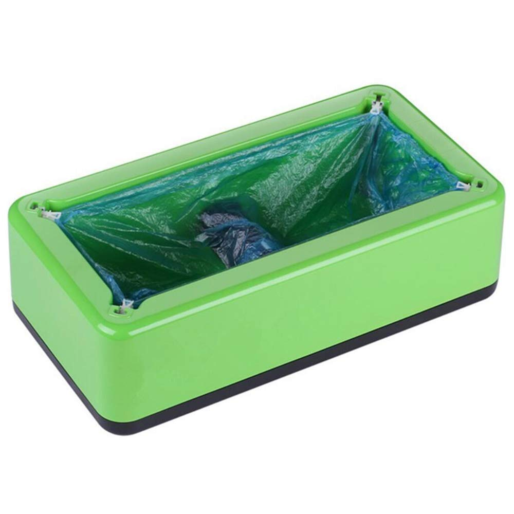 Shoe Cover Machine Dispenser Automatic Anti Slip Unisex Home Office Disposable Forming Medical Laboratory Simple Health Protection (200 Disposable Plastic Shoe Covers)(16x9x5 in),Green