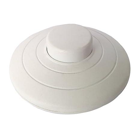MZMing [1 Pack] Interruptor de prensa de pie en línea para lámpara estándar para 2 o 3 Core Flex In White para lámpara de piso y mesa - Interruptor de ...