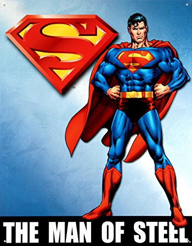 Superman Vintage Ink (Superman The Man of Steel Retro Vintage Tin Sign)