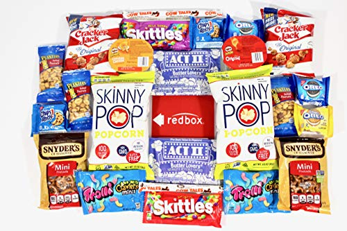 Ultimate Movie Night Care Package Full of Delicious Snacks and Redbox Rental Code by Stay at Home Snacks