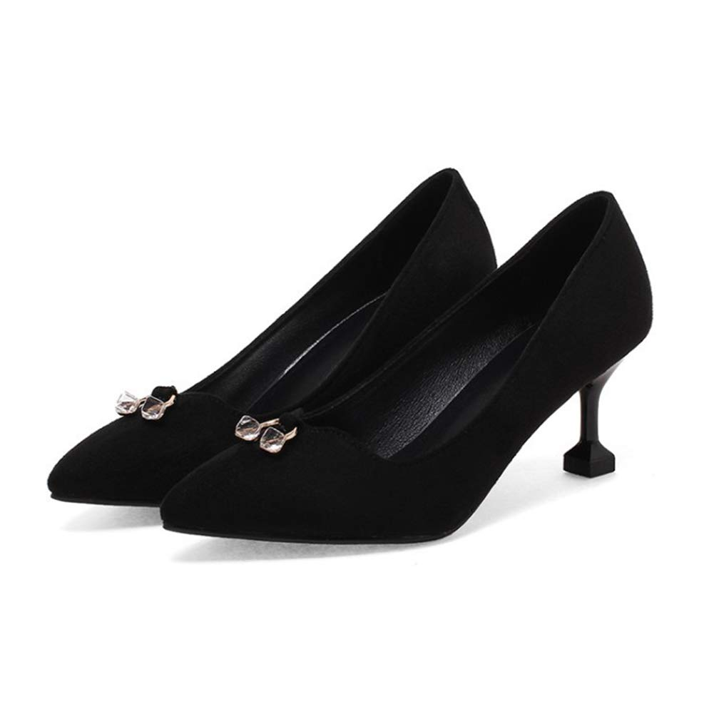Btrada Women Fashion Pointy Toe Elegant Pumps Elegant Toe Wedding Shoe Comfortable Kitten Heel Slip On Dress Shoes B07GBS7WBH Western 4658bb