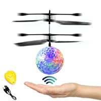 Hand Operated Kids Flying Drone, Indoor Outdoor Rechargeable Infrared Induction...