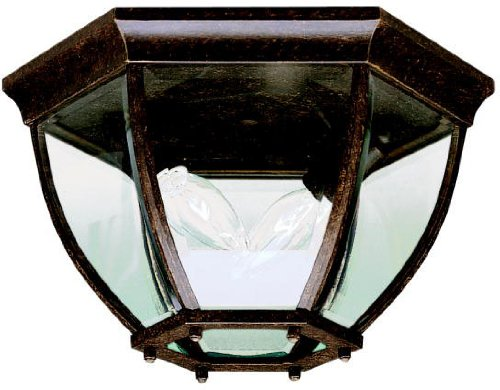 Kichler 9886TZ Outdoor Ceiling 2-Light, Tannery - Townhouse 2 Glasses