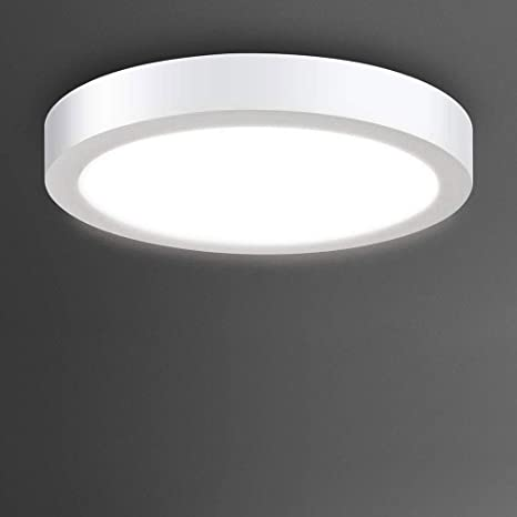 Flush Mount Led Ceiling Light Fixture 24w Soft Daylight Flat Round Surface Mounted Downlight Lamp Lighting For Closet Bedroom Dining Room Kitchen Kids Room Dorm Room Amazon Com