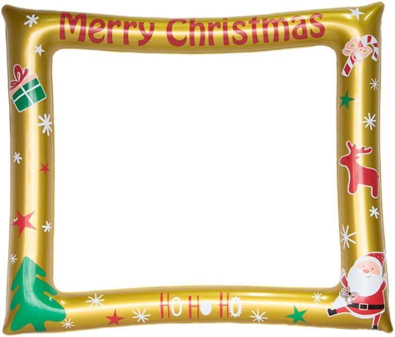 NUOBESTY Marco de fotos inflable de Navidad, marco para selfies, para fiesta de Navidad, cumpleaños