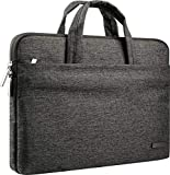 CCPK 15 Inch Laptop Sleeve Case Bag with Handle Waterproof Briefcase Compatible for Apple 15.4' MacBook Pro 15.6' Hp Pavilion Envy X360 Elitebook 850 G5 Lenovo Ideapad 320 110 330 Handbag Black Grey