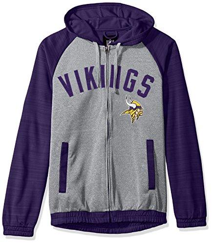 Minnesota Vikings Legends - G-III Sports NFL Minnesota Vikings Legend Hooded Track Jacket, 6X, Gray