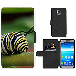 Hot Style Cell Phone Card Slot PU Leather Wallet Case // M99999190 Caterpillar // Samsung Galaxy S5 S V SV i9600 (Not Fits S5 ACTIVE)