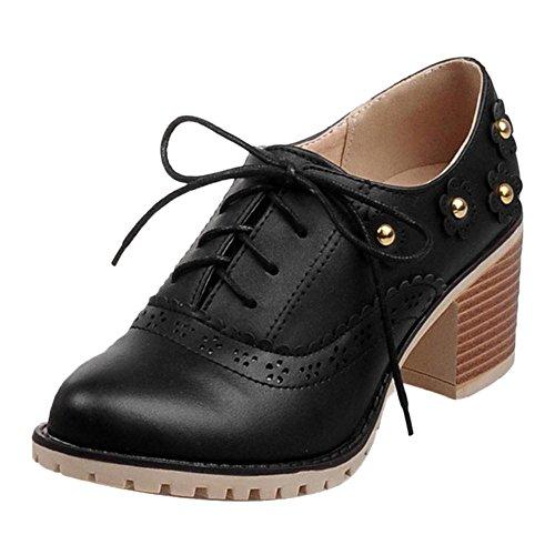 Coolcept Zapatos de Primavera para Mujer Black