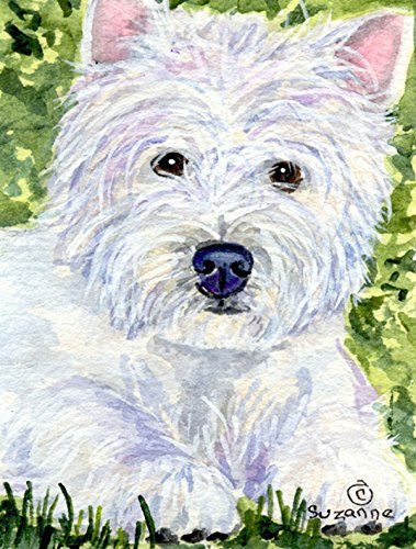 Caroline's Treasures SS8835CHF Westie Flag Canvas, Large, Multicolor