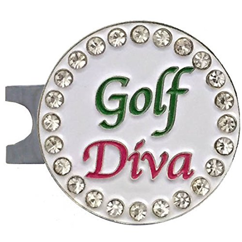 Jewelry Diva Gifts (Giggle Golf Bling Golf Diva Golf Ball Marker With A Standard Hat Clip)