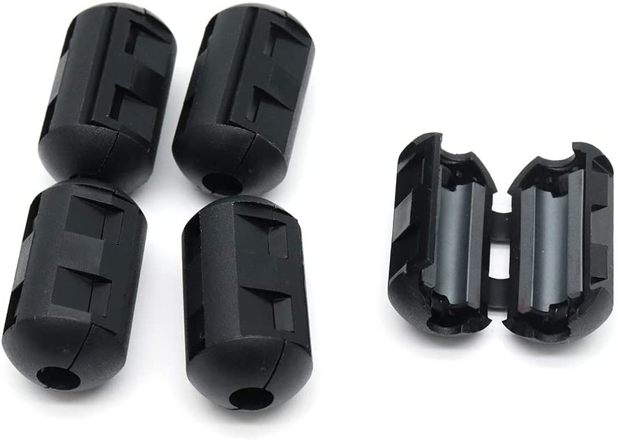 Black Cyful 5pcs Noise Filter Cable Ring Ferrite Core Filters Suppressor Cable Clip for 5mm-6mm Diameter Cable