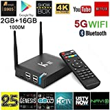 Fxexblin KIII Android TV Box Amlogic S905 Android 5.1 4K 2.4/5GB Dual WiFi 2GB/16GB Bluetooth 4.0 Smart TV Box