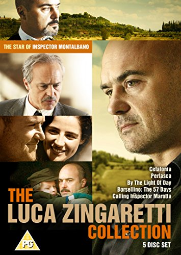 The Luca Zingaretti Collection : 5 Disc Box Set (Cefalonia, Perlasca ,Calling Inspector Marotta, By The Light Of Day, Borsellino: The 57 Days) [DVD] ()