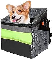 Dog Bike Basket, Folding Cat Basket for Bike, Detachable Cycling Puppy Basket, Bicycle Front Handlebar Pet Car