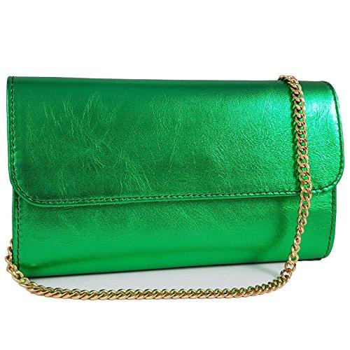 Green in Women's Metallic Made Freyday Italy Freyday Made Clutch 0wqxFORT